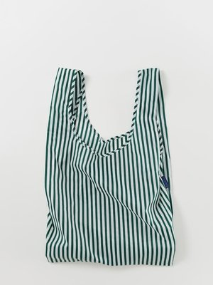 Baggu Standard Reusable Bag - Green Hunter Stripe