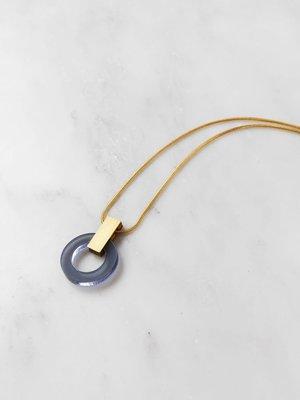 Wolf & Moon Orbit Necklace