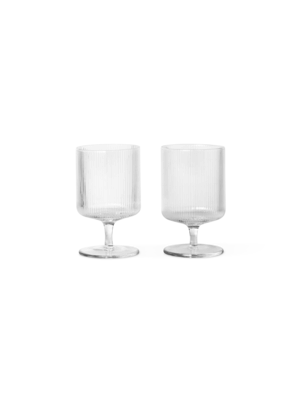 ferm LIVING Ripple Wine Glasses (Set of 2)