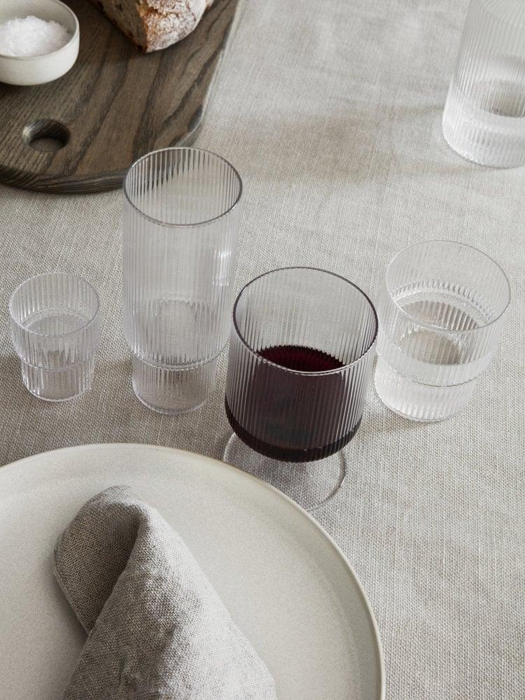 ferm LIVING ferm LIVING Ripple Wine Glasses (Set of 2) - Clear