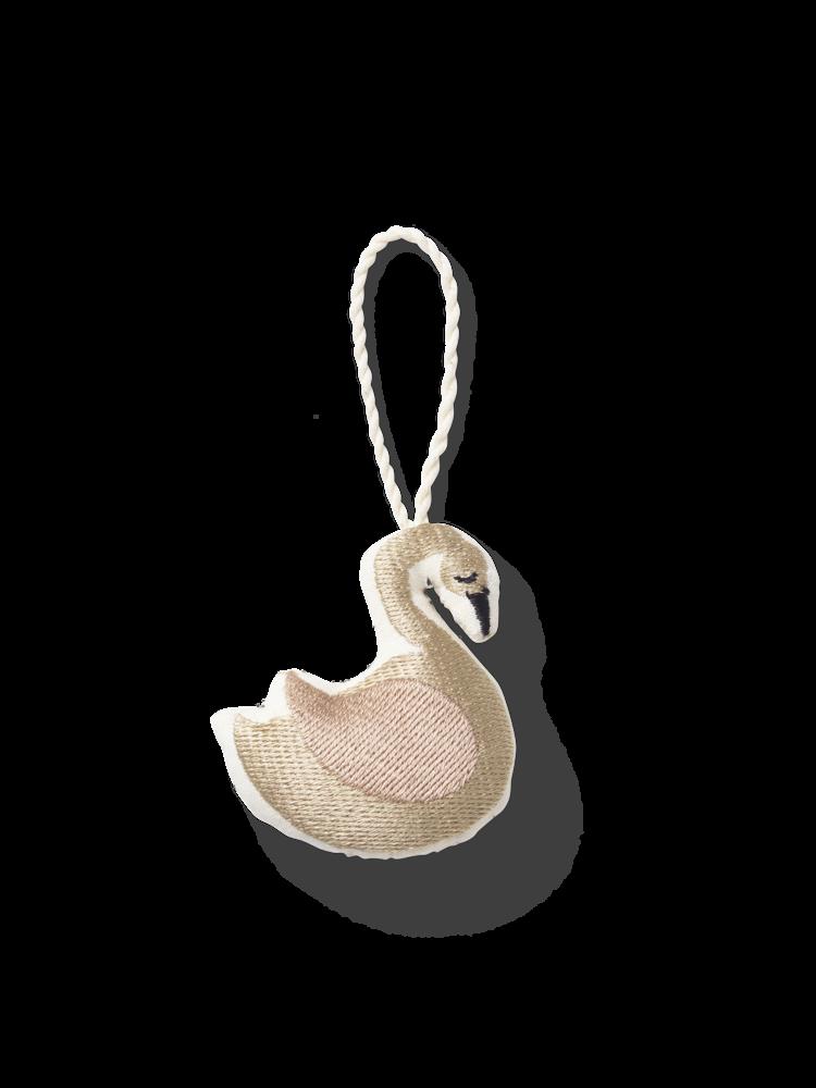 ferm LIVING Ferm Living CPH Embr. Ornaments - Swan
