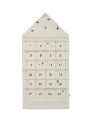 ferm LIVING Star Christmas Advent Calendar - Sand