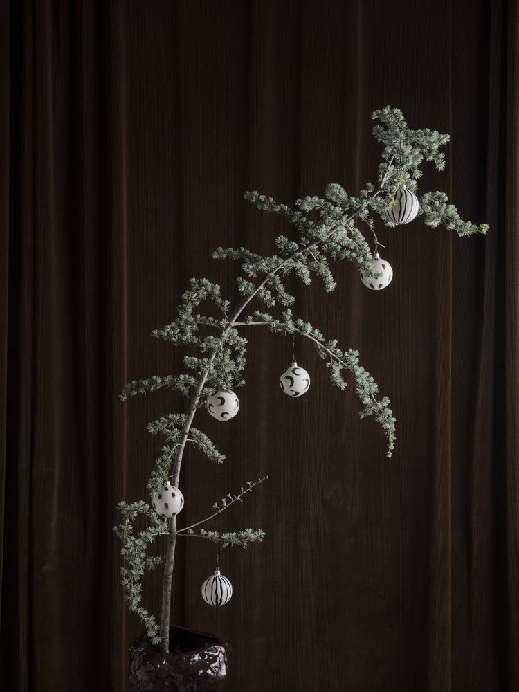 ferm LIVING Ferm Living Christmas Glass Ornaments - Red Brown