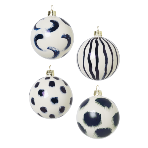 ferm LIVING Christmas Glass Ornaments - Blue