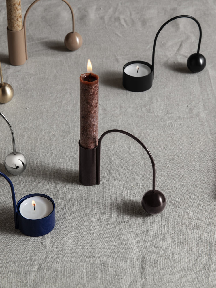 ferm LIVING ferm LIVING Uno Candle - Red Brown
