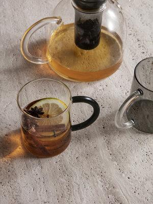 ferm LIVING ferm LIVING Still Mugs (Set of 2) - Smoked Glass