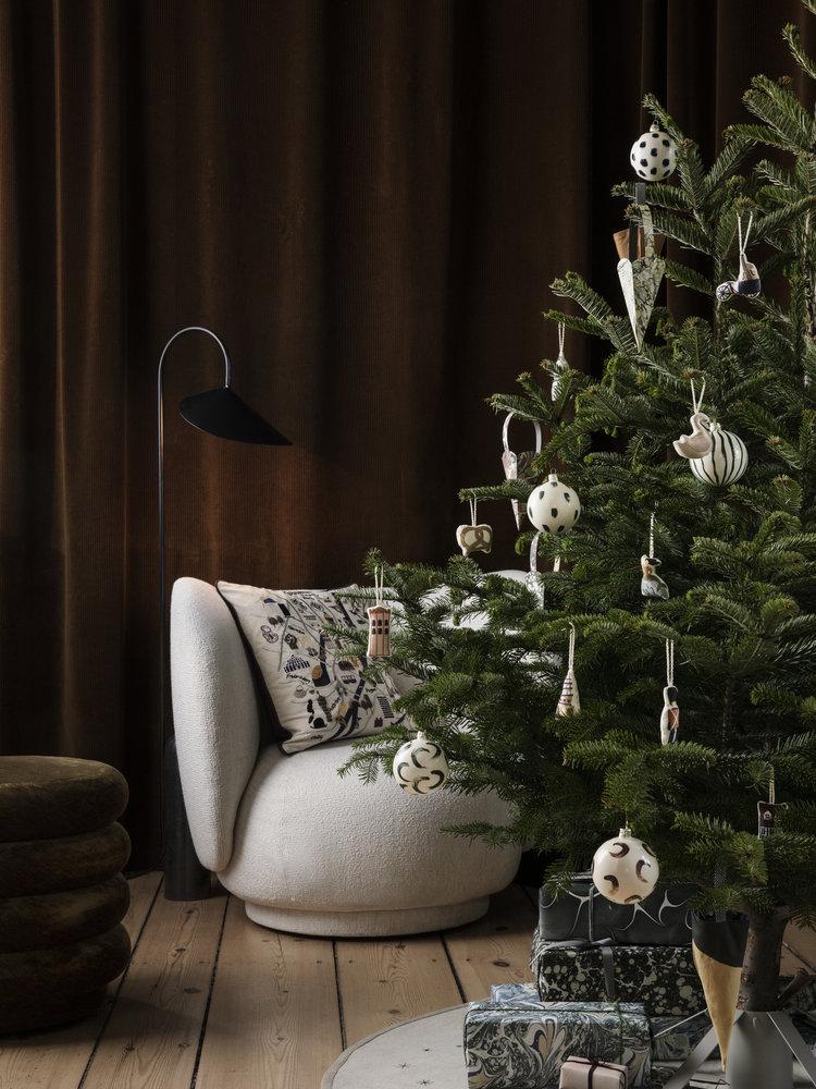 ferm LIVING Ferm Living Christmas Glass Ornaments - Blue