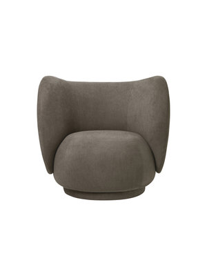 ferm LIVING ferm LIVING Rico Lounge Chair - Brushed