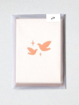 Ola Foil Blocked Cards: Two Doves Stone/Copper