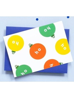 Ola OLA jr Greeting Card HoHoHo Bauble