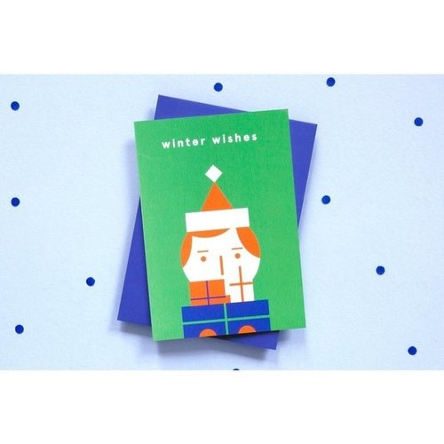 Ola OLA jr Greeting Card Winter Wishes