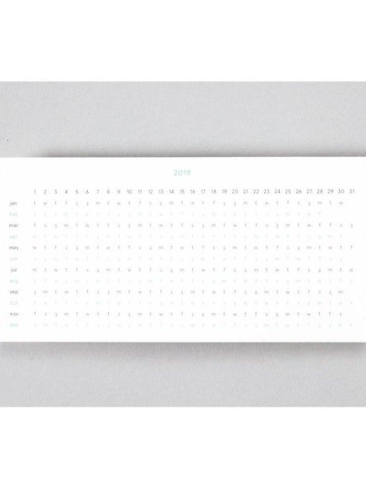 Ola Ola Layflat Weekly Planner in Navy Shapes - Calendar Insert: 2019/20