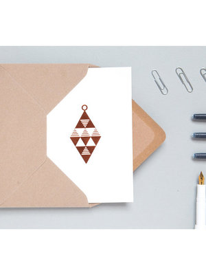 Ola Foil Blocked Cards: Diamond Bauble Stone/Copper