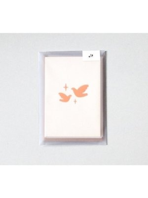 Ola Ola Foil Blocked Cards: Two Doves Pack of 6