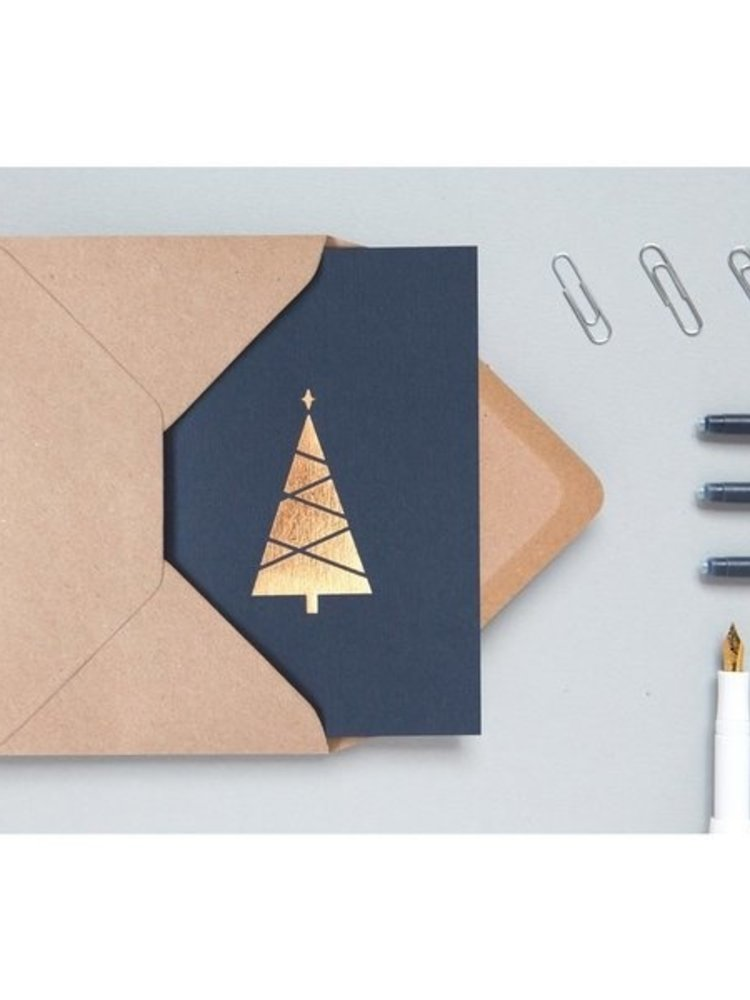 Ola Ola Foil Blocked Cards: Christmas Tree Pack of 6