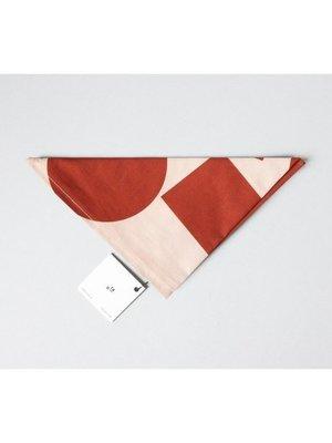 Ola Ola Cotton Wrap: Blocks Print Salmon/Red