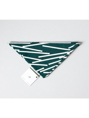 Ola Ola Cotton Wrap: Lines Print Forest Green