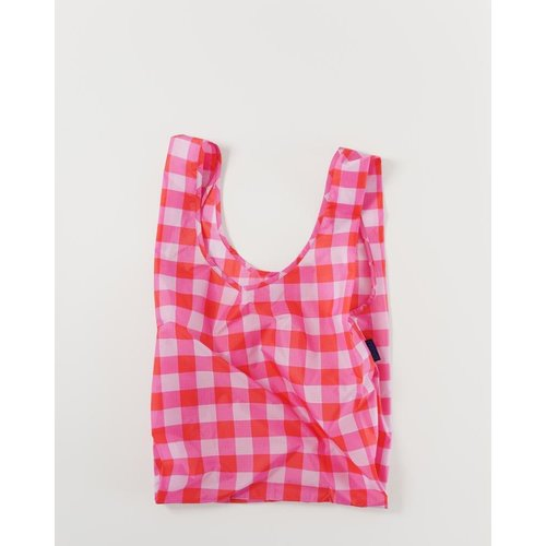 Baggu Standard Reusable Bag - Big Check Magenta