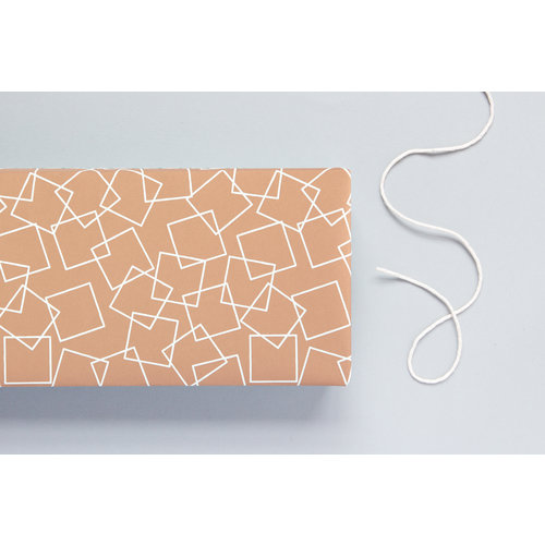 Ola Patterned Papers: Squares Print, Copper