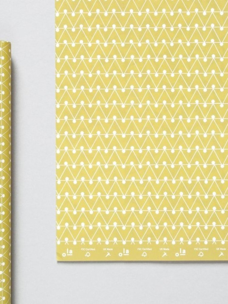 Ola Ola Patterned Papers: Dash Print, Green