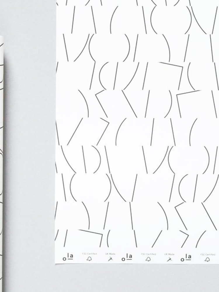 Ola Ola Patterned Papers: Sol Print, White & Black