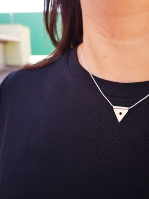 Lima Lima Lima Lima Triangle With Dot Necklace