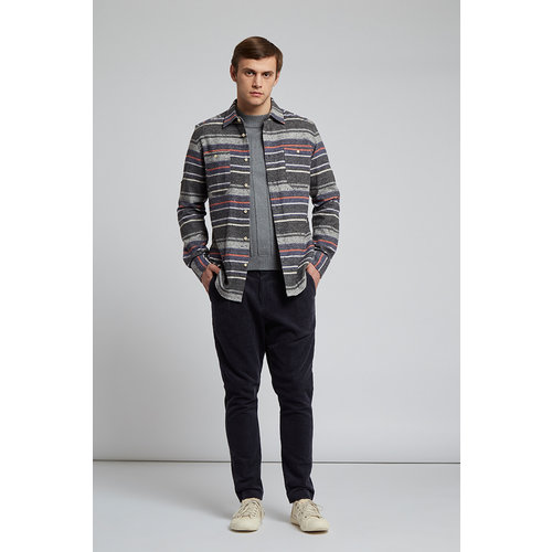 HYMN London 'BLANKET' Glacier Flecked Striped Shirt