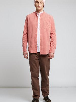 HYMN London 'TUFT' - Micro Cord Mandarin Collar Shirt - Light Pink
