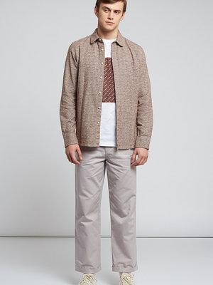 HYMN London 'PENNYLANE' - Tan Flecked Penny Collar Shirt
