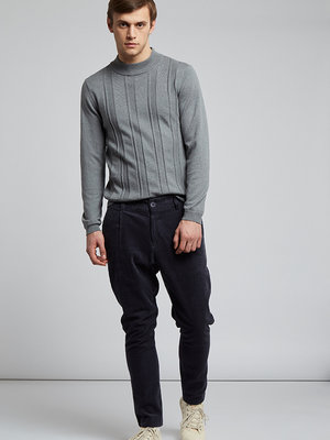 HYMN London 'BOOTHBY' Tapered Leg Corduroy Trousers - Blue