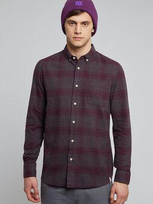HYMN London 'SAMMONDS' Melange Check Flannel Shirt - Purple