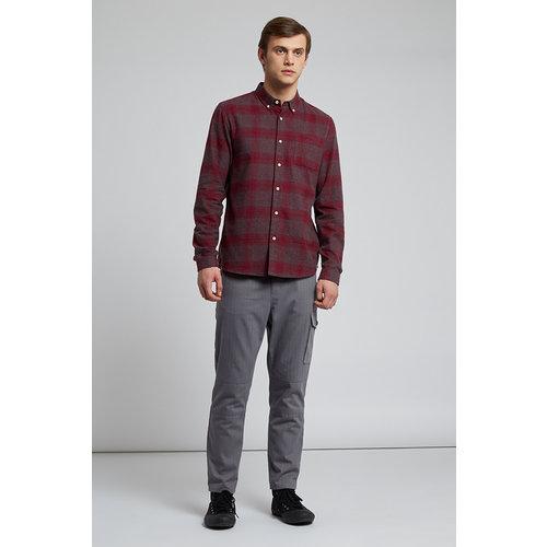 HYMN London 'SAMMONDS' Melange Red Check Flannel Shirt