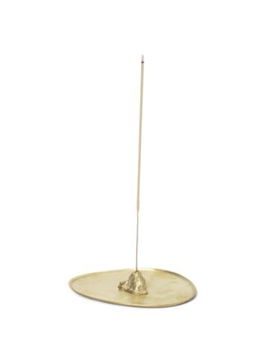 ferm LIVING Stone Incense Burner - Brass