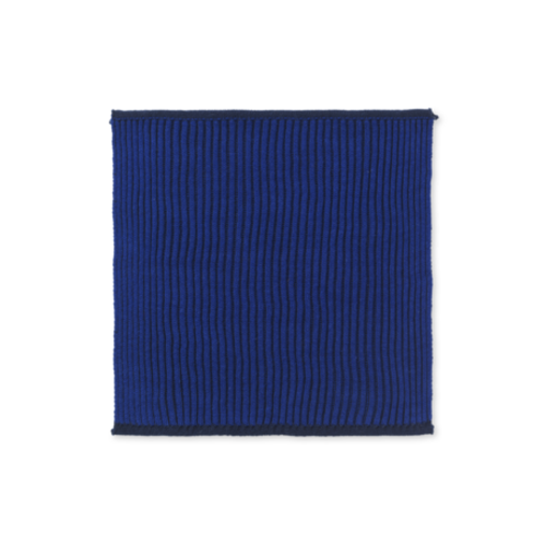 ferm LIVING Twofold Organic Cotton Dishcloth  - Dark Blue
