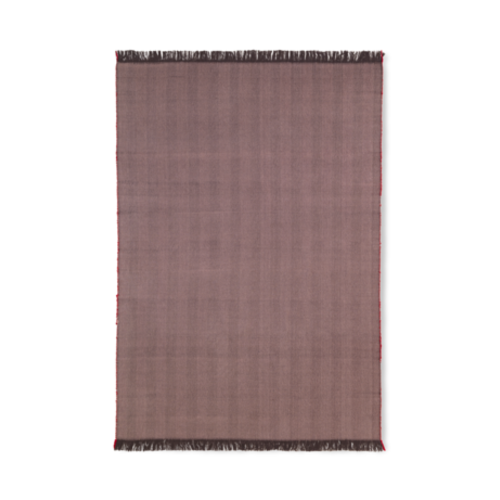 ferm LIVING Herringbone Knit Blanket - Aubergine