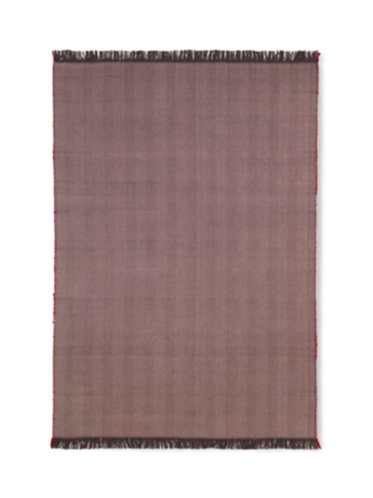 ferm LIVING ferm LIVING Herringbone Knit Blanket - Aubergine