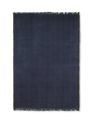 ferm LIVING ferm LIVING Herringbone Knit Blanket - Dark Blue