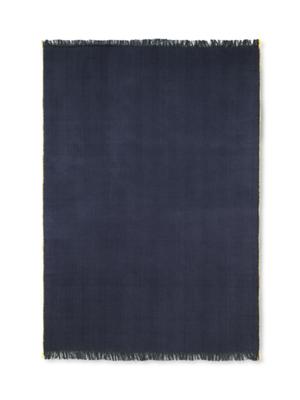 ferm LIVING Herringbone Knit Blanket - Dark Blue