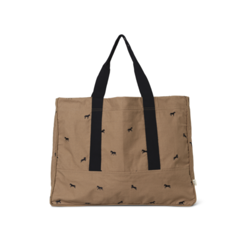 ferm LIVING Horse Embroidery Weekend Bag