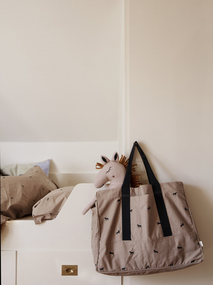 ferm LIVING ferm LIVING Horse Embroidery Weekend Bag