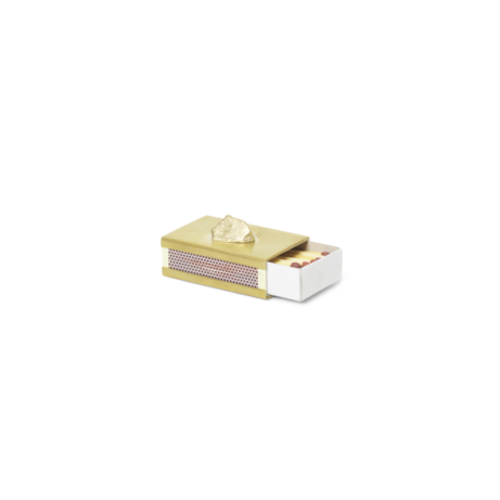 ferm LIVING Stone Matchbox Cover - Brass