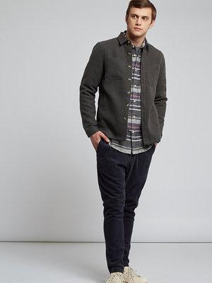HYMN London HYMN 'WATTLE' - Charcoal Fleece Overshirt