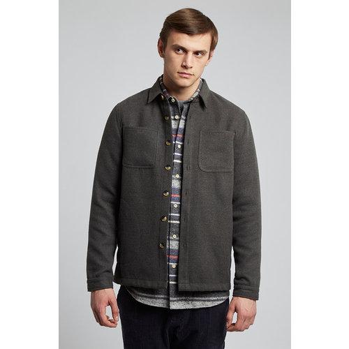 HYMN London 'WATTLE' - Charcoal Fleece Overshirt
