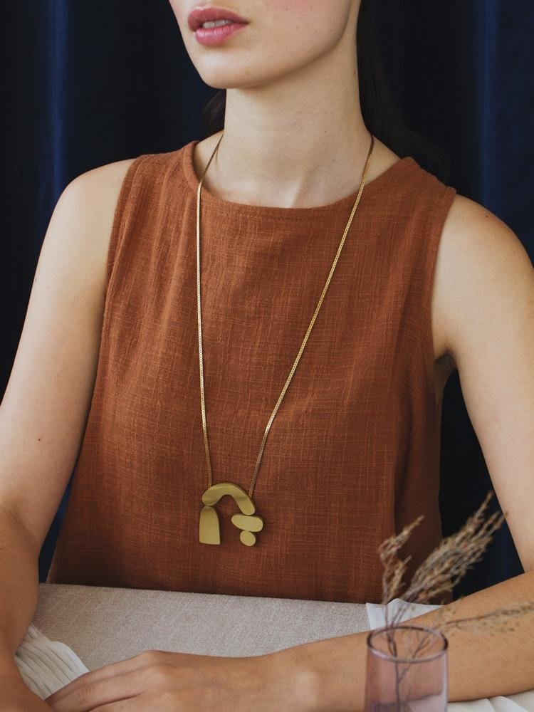 Wolf & Moon Wolf & Moon Cassia Necklace - Brass