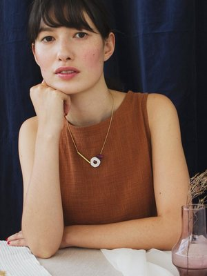 Wolf & Moon Wolf & Moon Cutout Necklace  - Cherry