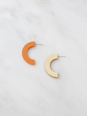 Wolf & Moon Wolf & Moon Arc Studs - Orange/Rose