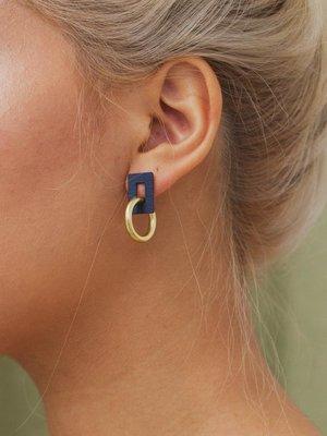Wolf & Moon Wolf & Moon Mini Etta Earrings - Midnight Blue