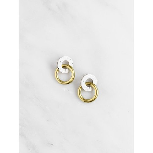 Wolf & Moon Mini Isla Earrings - Eggshell