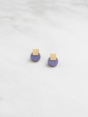 Wolf & Moon Mini Sol Studs - Blueberry
