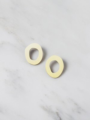 Wolf & Moon Hepworth I Studs - Brushed Brass